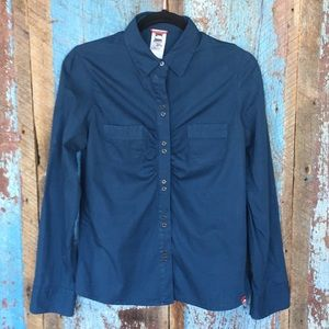 North Face Dark Aquamarine Button Down Shirt